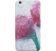 Magenta Expressionistic Flowers iPhone Case/Skin