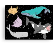 Night whales Canvas Print