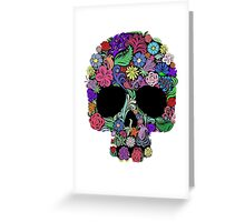 Skull Floral Greeting Card