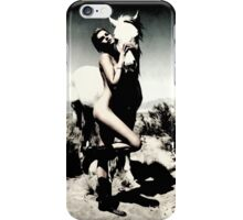 Woman and horse MixXart iPhone Case/Skin