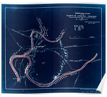 Civil War Maps 1864 Topographical sketch of the vicinity of Kingston Tennessee Inverted Poster