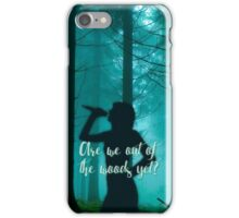 Taylor Swift Out of the Woods Silhouette Lyrics iPhone Case/Skin