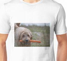 A dog and his plastic bone Unisex T-Shirt