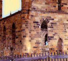 Church Ruins in Tasmania Sticker