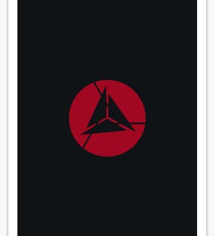 Alliance Logo - Elite - Black & Red Sticker