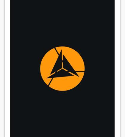 Alliance Logo - Elite - Black & Yellow Sticker