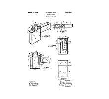 Lighter Patent Photographic Print