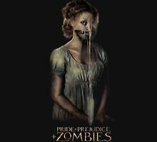 pride prejudice zombies movie Women's Fitted V-Neck T-Shirt