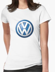 Volkswagen Logo Womens Fitted T-Shirt