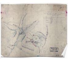Civil War Maps 1639 Sketch of the battle of McDowell on Thursday May 8th 1862 Jackson Poster
