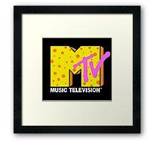 90's MTV Framed Print
