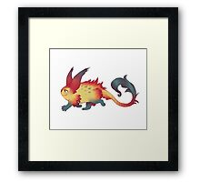 Fred the Monster Framed Print