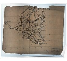 Civil War Maps 2230 Sketch of the Manassas battlefield Poster