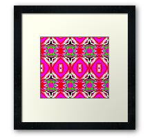Very hot pink pattern Framed Print