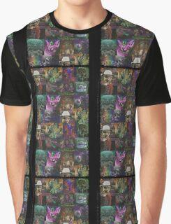 Dark Threads Blotter Art Graphic T-Shirt