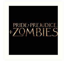 pride prejudice zombies story movie Art Print
