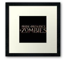 pride prejudice zombies story movie Framed Print