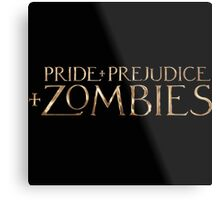 pride prejudice zombies story movie Metal Print