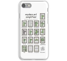 modern art simplified iPhone Case/Skin