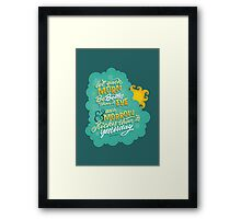 Let each morn be better than its eve Framed Print
