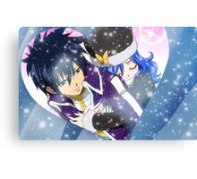 Gray & Juvia Valentine Canvas Print