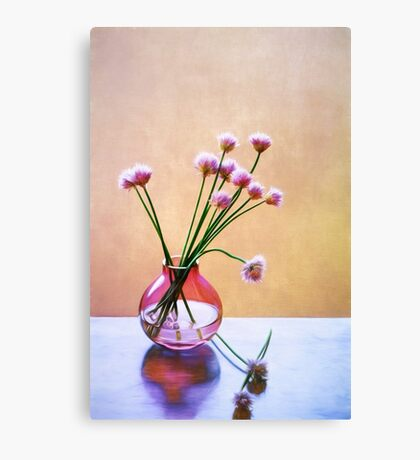 Painterly Chives Canvas Print
