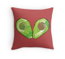 Watercolour Avocado Throw Pillow