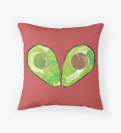 Watercolour Avocado Throw Pillow