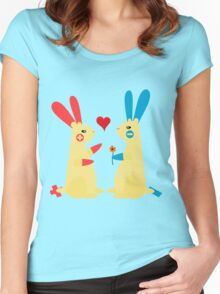 Bunny Love - Plusle and Minun 2 Women's Fitted Scoop T-Shirt