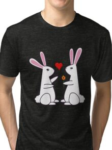 Bunny Love - Valentine's Bunnies Tri-blend T-Shirt