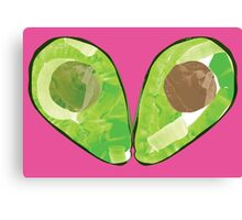 Watercolour Avocado Canvas Print