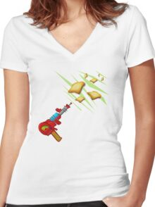 Toast Zappa by Anne Winkler Women's Fitted V-Neck T-Shirt