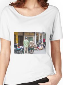 Scooter Large Load Hanoi Vietnam Women's Relaxed Fit T-Shirt