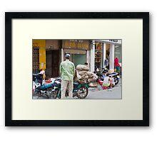 Scooter Large Load Hanoi Vietnam Framed Print