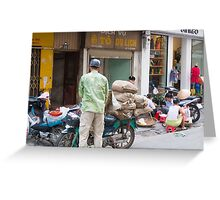 Scooter Large Load Hanoi Vietnam Greeting Card