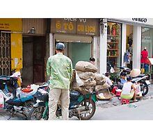 Scooter Large Load Hanoi Vietnam Photographic Print