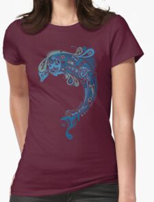 Cute Dolphin Womens Fitted T-Shirt