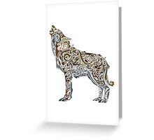 Colorful Wolf Greeting Card