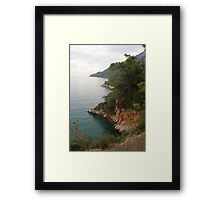 Coastline of The Gokova Gulf Framed Print