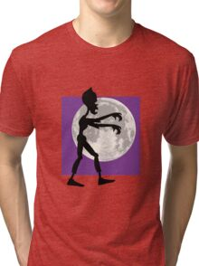 Friendly Zombie - walk Tri-blend T-Shirt