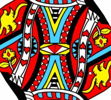 """""""The Queen Of Hearts"""" Sticker"""
