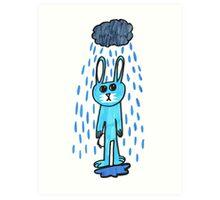Rabbit in the Rain Art Print