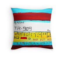 roland 909 Throw Pillow