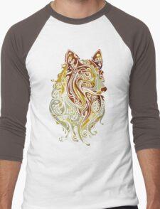Colorful Fox Men's Baseball ¾ T-Shirt