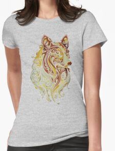 Colorful Fox Womens Fitted T-Shirt