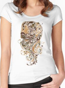 Colorful Dog Women's Fitted Scoop T-Shirt