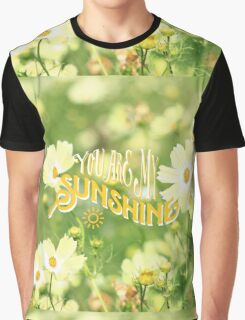 You Are My Sunshine Pretty Yellow Cosmos Flowers Graphic T-Shirt