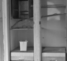 The Empty Refrigerator  Sticker