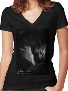 Melbourne Zoo - Gibbon Women's Fitted V-Neck T-Shirt
