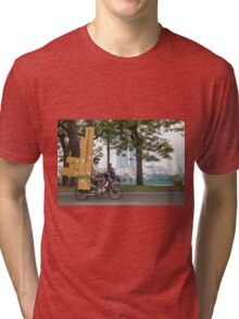 Scooter in Hanoi with long load Tri-blend T-Shirt